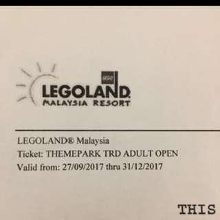 Legoland theme park ticket