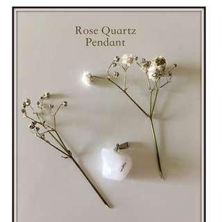 Rose Quartz Pendant (small)