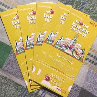 World Bazaar Complimentary Ticket