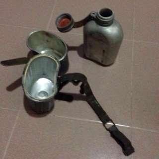 Genuine RARE M1907 Pattern German Army Water Canteen Feldflasche Maker marked