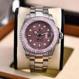 Rolex Submariner Pink Face Pink Ceramic Bezel Special Edition Ladies watch