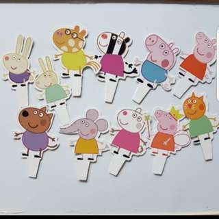 Peppa pig Cake/Cupcake/Muffin Toppers for Party Decoration