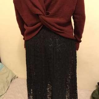 黑連身襯裙 (不含毛衣)