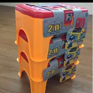 BN - 2 In 1 Kids Stool / Play Tools And Stool Set