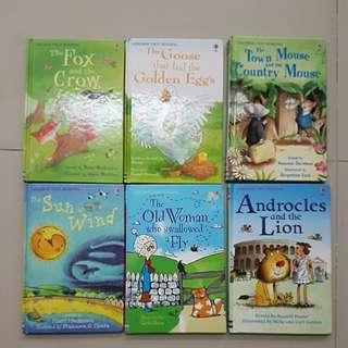 Usborne First Reading Books (6x)