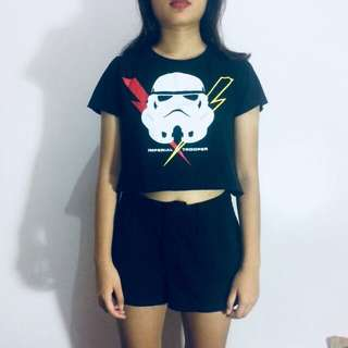 Storm trooper crop top