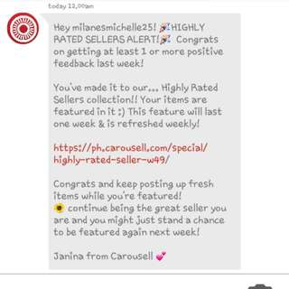 THANK YOU CAROUSELL TEAM