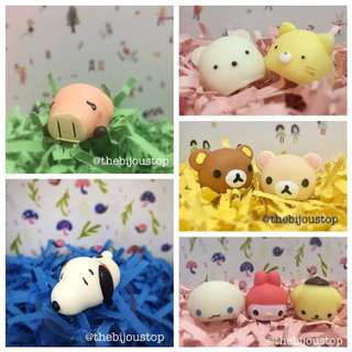 SCENTED CHARACTER SQUISHY TOYS