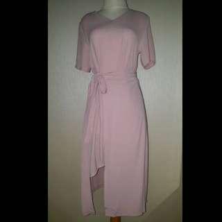 Baby pink midi dress