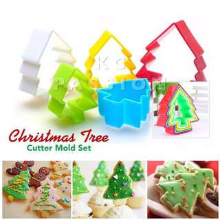 🎄 CHRISTMAS TREE CUTTER MOLD SET  Cake Decorating Tool for Cookies • Fondant Cake & Cupcake • Bread Dough • Pastry • Sugar Craft • Jelly • Gum Paste • Polymer Clay Art Craft •