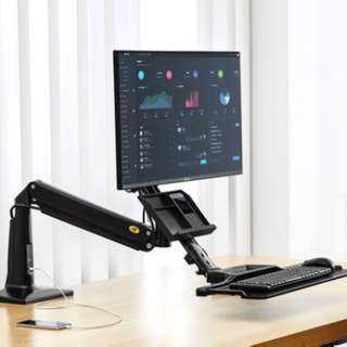 Sit or Stand Work Station for Desktop of Size up to 35″  Message 87209646