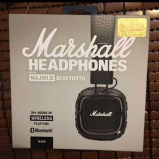 Marshall earphone 2 Bluetooth unopened new 全新未開封