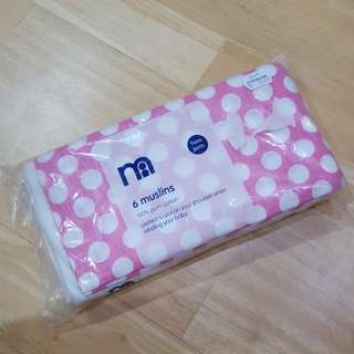 New Mothercare 6 muslins