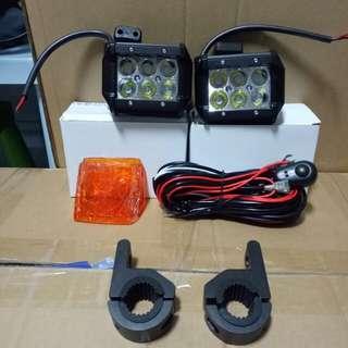 Motorcycle foglight set
