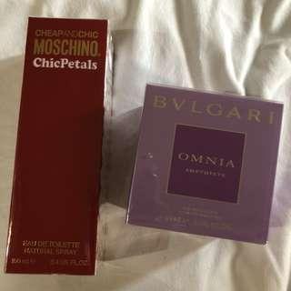 Bulgari Amethyste & Moschino Perfumes