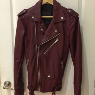 Zara Men's xSmall Red Biker Jacket.
