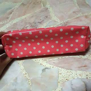 Authentic Cath Kidston Pink Polka Dots Pencil Case