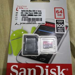 Original Sandisk 64GB Micro SD