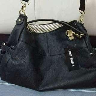 Steve Madden large black crossbody bag