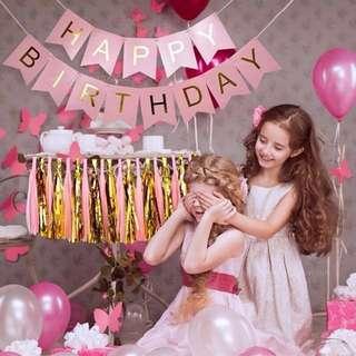 Happy birthday & tassel decoration bundle