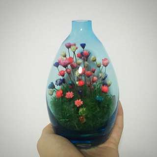 Multi Colour Flowers In Vase
