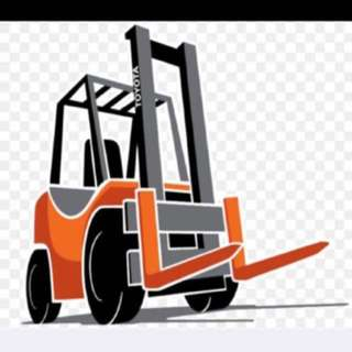 Forklift Rental, Lorry and Fridge truck!