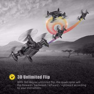 MINI HIGH SPEED DRONE Z201 FOLDABLE RC POCKET QUADCOPTER 2.4G 4CH 6-AXIS GYRO HEADLESS MODE RTF (BLACK)