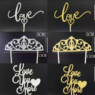 (Buy 4 get 1 free)Wedding/Couple/Love cake toppers/Props