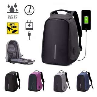 Anti Theft Laptop Backpack 2018 Design Waterproof School Backpack With USB Charging Port