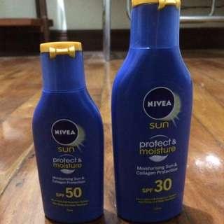 Nivea Sun Protect & Moisture Lotion Package