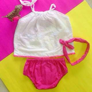 🆕MEGAN BABY GIRL'S BLOOMER SET for (6 months - 12 months)