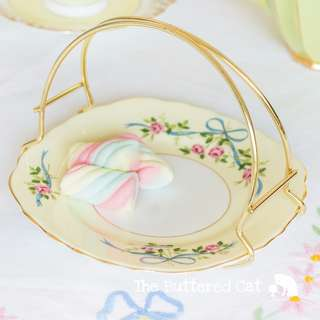 RESERVED Pretty sugar basket with detachable handle