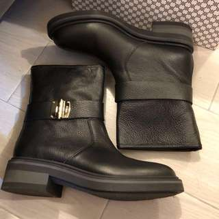 Furla real leather boots 真皮黑色騎士短靴