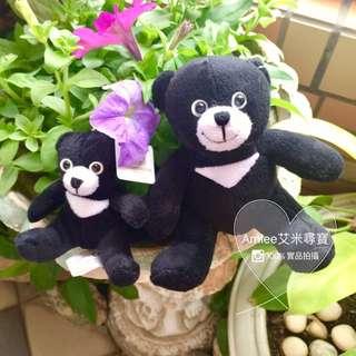 【特快出貨】全新 台灣黑熊吊飾娃娃鑰匙圈 一套大小隻一起賣 情侶鑰匙圈