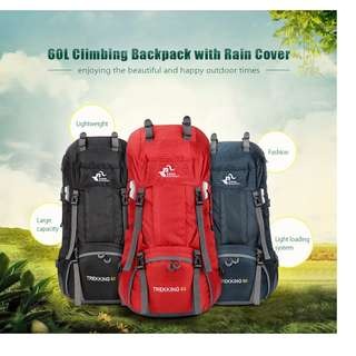FREEKNIGHT FK0395 60L CLIMBING BACKPACK WITH RAIN COVER (DEEP BLUE)