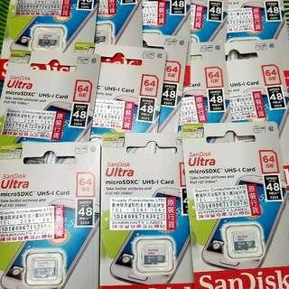 Sandisk 64GB卡