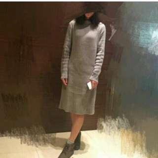 Uniqlo 長版羊毛洋裝