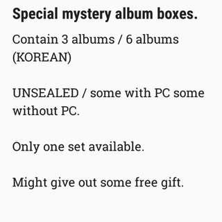 kpop albums mystery box