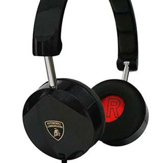 Automobili Lamborghini On Ear Wired Headphone with Super Stereo Sound and Microphone and Remote
