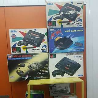 Vintage games and consoles