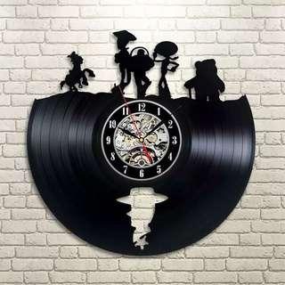 Toystory 黑膠唱片掛鐘