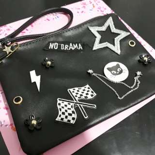 Stradivarius Clutch Bag with Pin Details