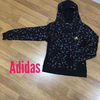 Adidas COPY premium quality black feather design hoodie Long sleeves jumper gym workout casual wear