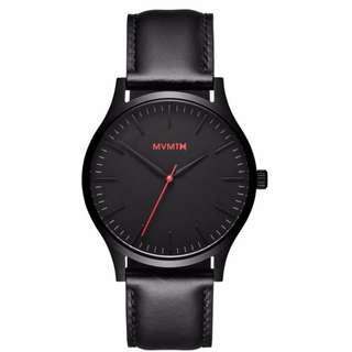 minimalist leather men watch
