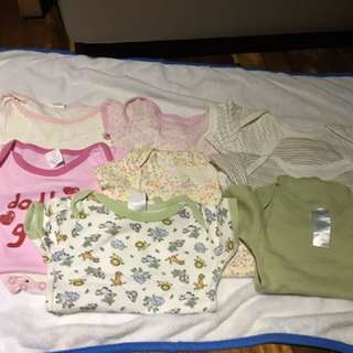 Assorted 0-9 months rompers
