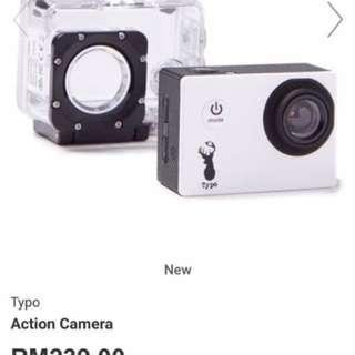 Typo Action Camera (White Colour)