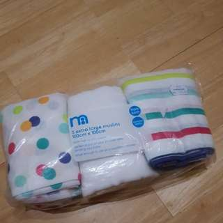 New Mothercare 3 XL Muslins