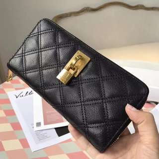 Marc Jacobs Padlock Leather Bifold Long Wallet