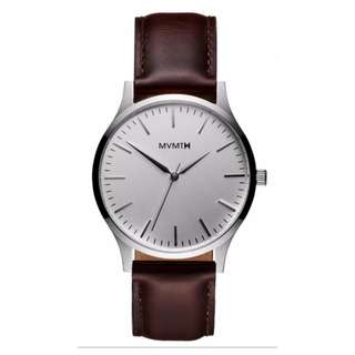 minimalist urban leather watch