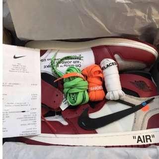 "Off-white x Nike ""Air Jordon One"" The Ten pack"